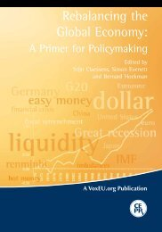 Rebalancing the Global economy: A Primer for Policymaking - Vox