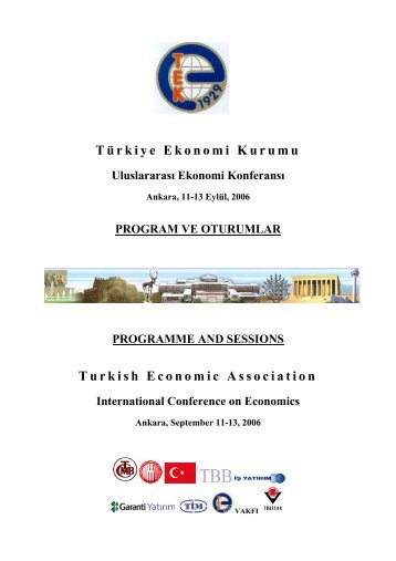 International Conference on Economics - Türkiye Ekonomi Kurumu