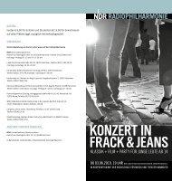 konzert In frack & jeans - Hochschule für Musik, Theater und Medien ...