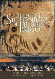 temporada 2012-2013 - Orquesta Sinfónica de Puerto Rico