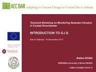 Workshop slides, M. Rossi 3 - Adapting to Climate Change in ...