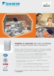POMPES À CHALEUR AIR/EAU ALTHERMA - Climamaison
