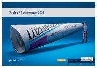 Preise / Leistungen 2012 - Neue Luzerner Zeitung