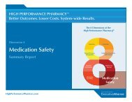 Dimension 4: Medication Safety - High Performance Pharmacy
