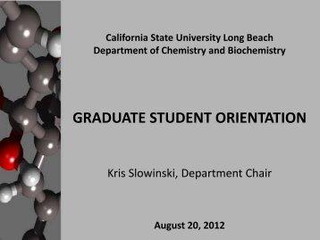 Graduate Orientation 2012 - California State University, Long Beach ...