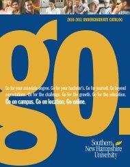 Undergraduate Catalog 2010-2011 - SNHU Academic Archive ...