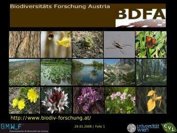 Plattform Biodiversitäts Forschung Austria (BDFA)