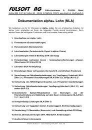Dokumentation alpha+ Lohn (NLA) - Fulsoft AG