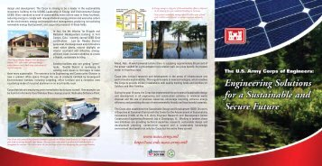 Sustainability Brochure - U.S. Army Corps of Engineers