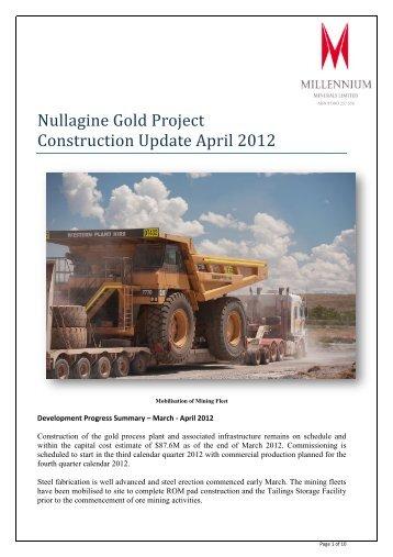 Pictorial Update April 2012 - Millennium Minerals Limited