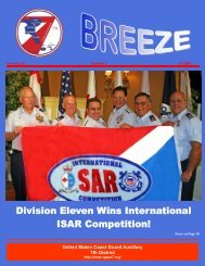 Division Eleven Wins International ISAR ... - USCGAUX District 7