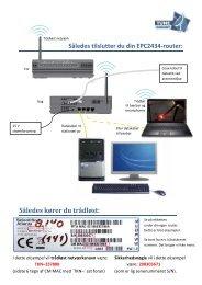 SÃ¥ledes tilslutter du din EPC2434 - Tune Kabelnet hjemmeside