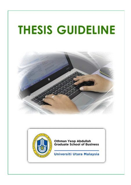 Thesis Guideline - OYA Graduate School of Business - UUM