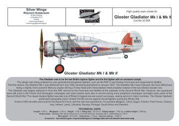 Gloster Gladiator Mk I & Mk II - Silver Wings