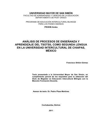 análisis de procesos de enseñanza y aprendizaje ... - Biblioteca virtual