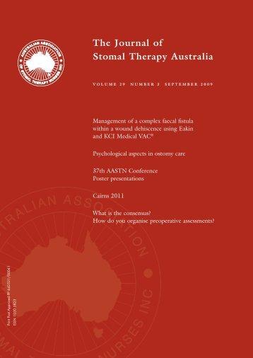 JSTA September 2009 - Australian Association of Stomal Therapy ...