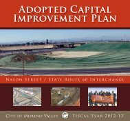 2012-2013 Adopted Capital Improvement Plan - City of Moreno Valley