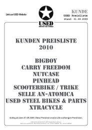 USED Preisliste Stand: 01.09.2009