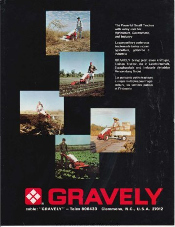 GRAVELY Tractors for Agriculture - StevenChalmers.com
