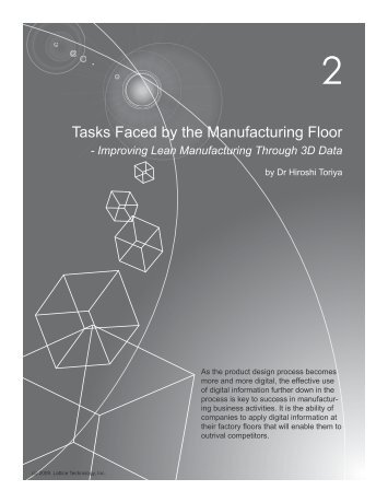 Tasks Faced by the Manufacturing Floor - Lattice Technology