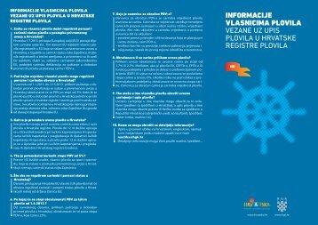 Informacije vlasnicima plovila - Porezna uprava