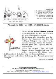 Pfarrblatt Nr. 03/04 vom 12.01. – 27.01.2013 (€ 0,30)