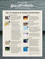 Top 10 reasons to choose CertainTeed - BlueLinx