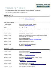 2012 Conference Schedule - American Cheese Society