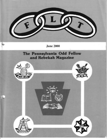 June - Grand Lodge of Pennsylvania, Independent Order of Odd ...