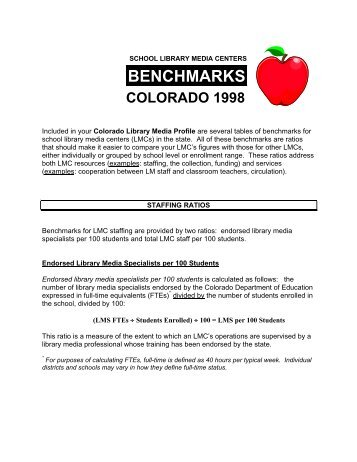 BENCHMARKS - Library Research Service