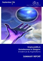 Employability And Homelessness SUMMARY Report - Glasgow ...