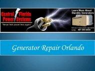 Generator Repair Orlando