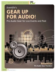 GEAR UP FOR AUDIO! - EventDV