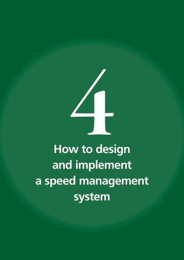 How to design and implement a speed management ... - libdoc.who.int