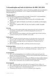 Verksamhetsplan med mål och aktiviteter för RBU 2012-2014
