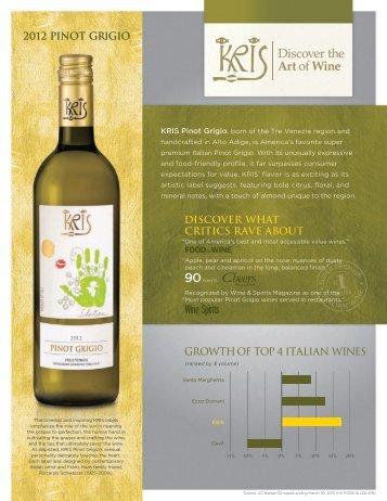 2012 pinot grigio - Winebow