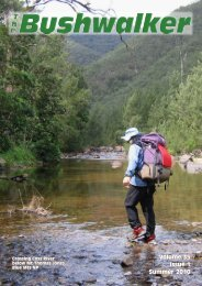 Volume 35 Issue 1 Summer 2010 - Confederation of Bushwalking ...
