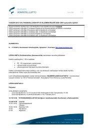 1 / 3 VUODEN 2013 VALTAKUNNALLINEN NTV:N ...