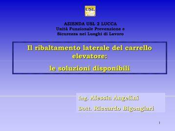 il ribaltamento laterale del carrello - Azienda USL 2 Lucca