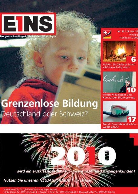 Grenzenlose Bildung - E1NS-Magazin