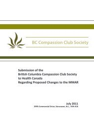 BCCCS Submission to HC - July 2011.pdf - The Compassion Club