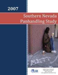 2007 Southern Nevada Panhandling Study - City of Las Vegas