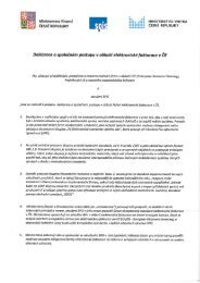 Deklarace o společném postupu v oblasti elektronické fakturace V ČR