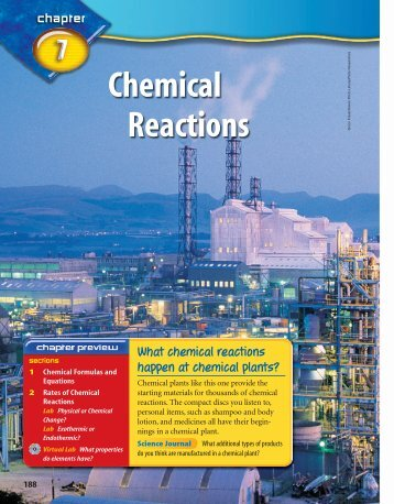 Chemical Reactions (7085.0K) - McGraw-Hill Higher Education