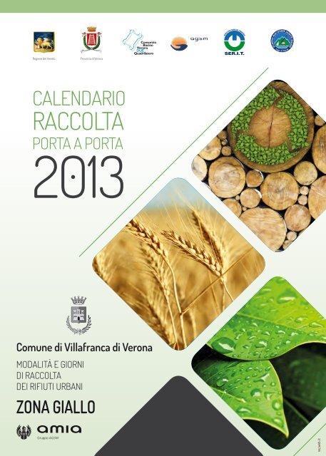 Calendario Amia Verona.Villafranca Di Verona Zona Gialla Calendario Raccolta