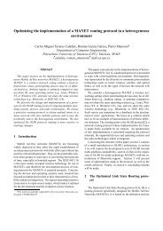 Optimizing the implementation of a MANET routing protocol in ... - GRC