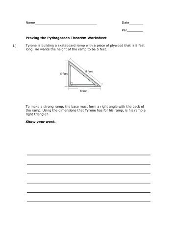 Proving The Pythagorean Theorem Worksheet   MrWalkerHomework