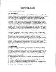Internal Medicine Curriculum