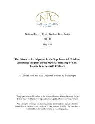 The Effects of Participation in the Supplemental Nutrition Assistance ...