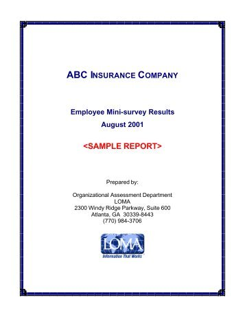 Sample Eos MiniSurvey Report